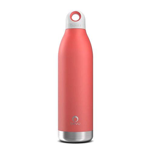 Bevu® DUO Insulated Bottle Coral.   550ml / 18oz