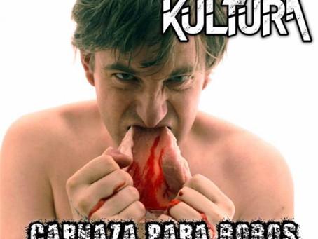 """Portada y Tracklist de """"Carnaza Para Bobos"""" de Los Kultura."""
