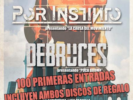 Por Instinto y Debruces presentarán juntos en Madrid.