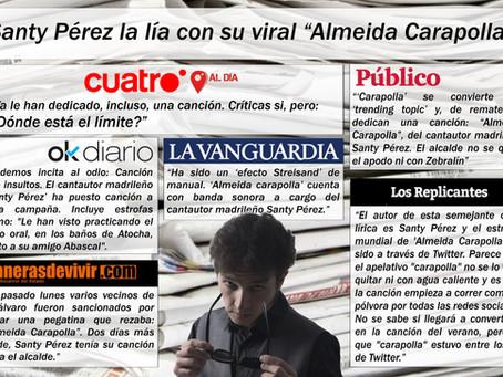 """Santy Pérez la lía con su viral """"Almeida Carapolla""""."""