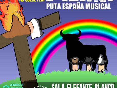 Cambio de sala para el regreso de Puta España Musical.