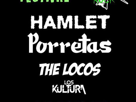 Los Kultura en el cartelazo del Novato Rock.