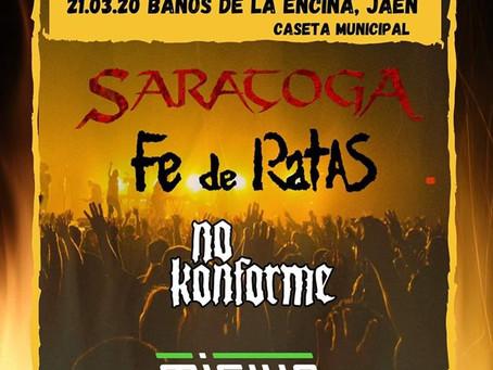 Fe de Ratas al Bury Rock Fest de Jaén.