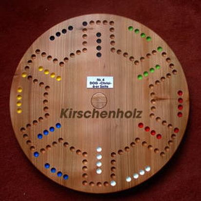 DOG Drehteller 4&6 Spieler Kirschenholz