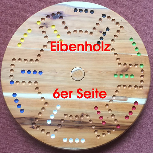DOG Drehteller 4&6 Spieler Eibenholz