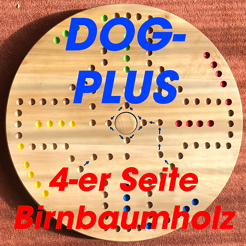 DOG -PLUS Drehteller 4&6 Spieler Birnbaumholz