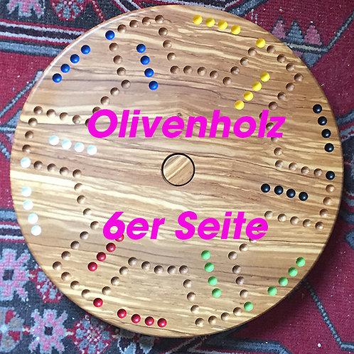 DOG-Drehteller Olivenholz doppelseitig 4&6 Spieler
