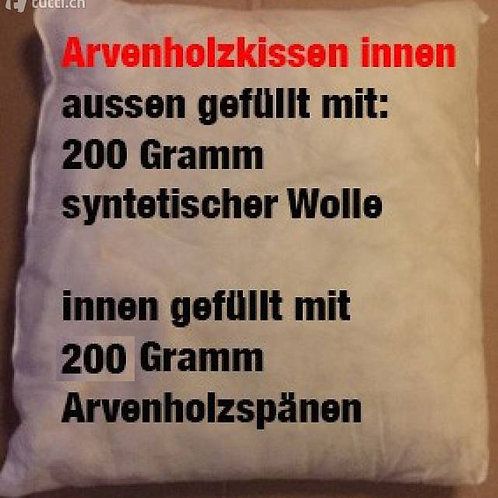 Arvenholz-Kissen 50x50 cm.