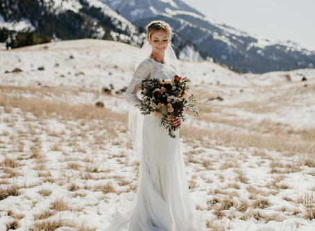 Winter Wedding at Chico Hot Springs | Montana Wedding Photographer