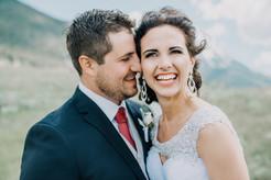 retractable banner photo bride and groom