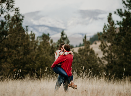 Missoula Engagement Session at Blue Mountain | Montana Wedding Photographer