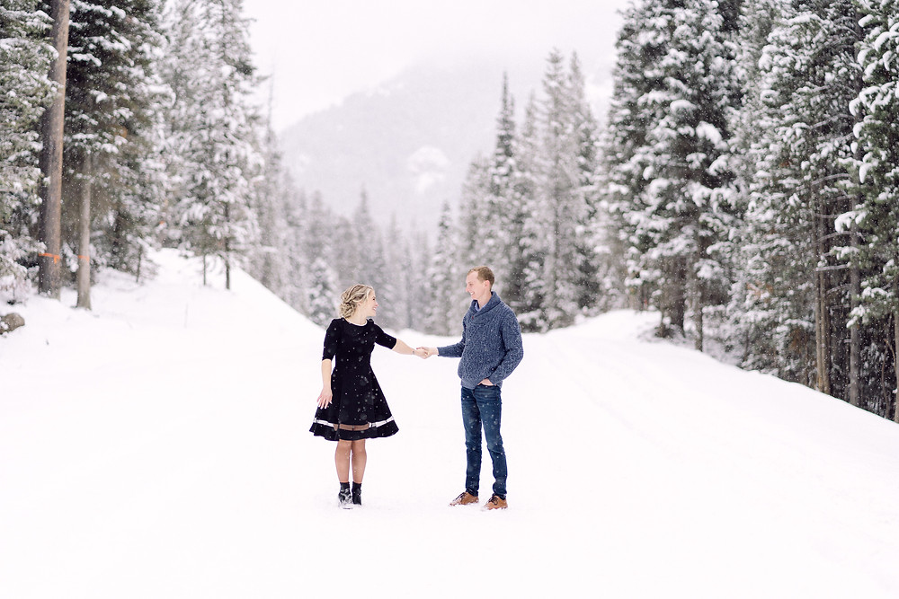 Hyalite canyon Bozeman Montana engagement session