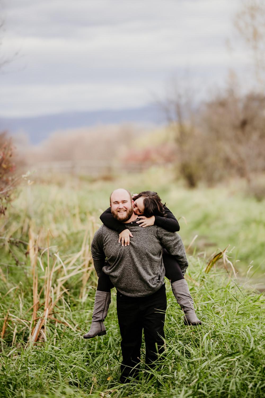 couple in Lee Metcalf Wildlife refuge in Stevensville