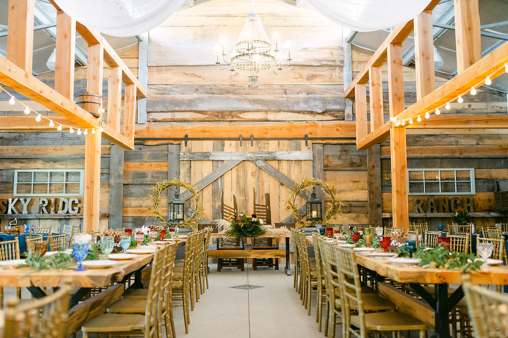 Montana wedding venue. Barn wedding at Sky Ridge Ranch.