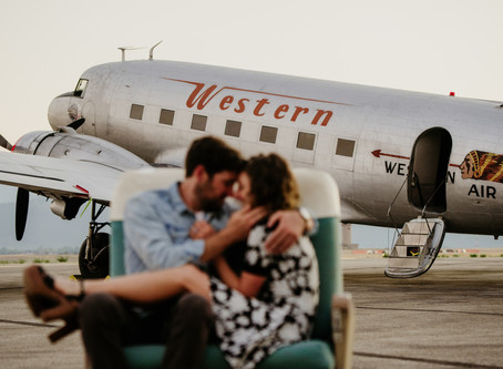 Airplane Engagement Session | Montana Engagement Session
