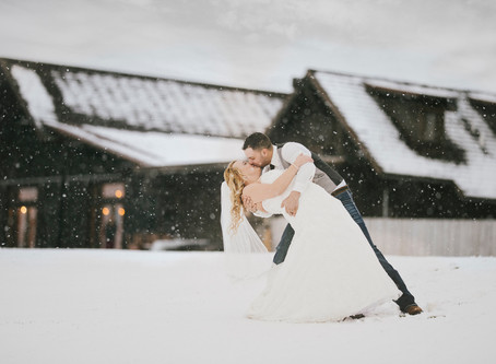 Winter Wedding at the Barn on Mullan | Montana Wedding Photographer