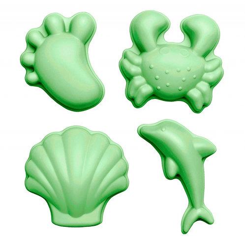 ,,Scrunch'' silikoninės formelės 4vnt., Pastelinė žalia