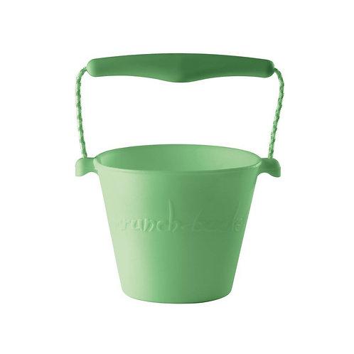 """""""Scrunch Bucket"""" silikoninis kibirėlis, Pastelinė žalia"""