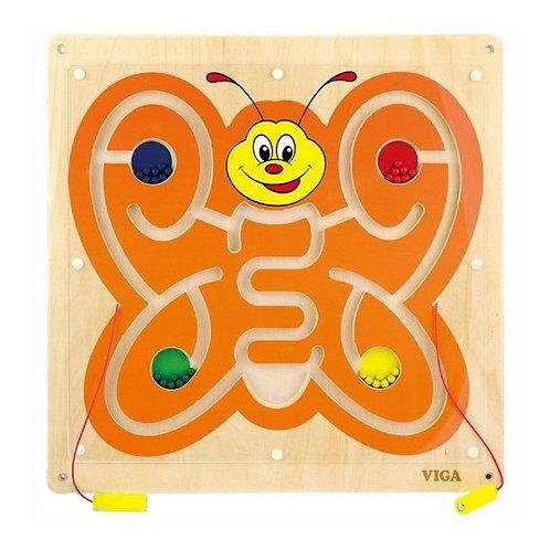 Medinė magnetinė lenta – labirintas Drugelis