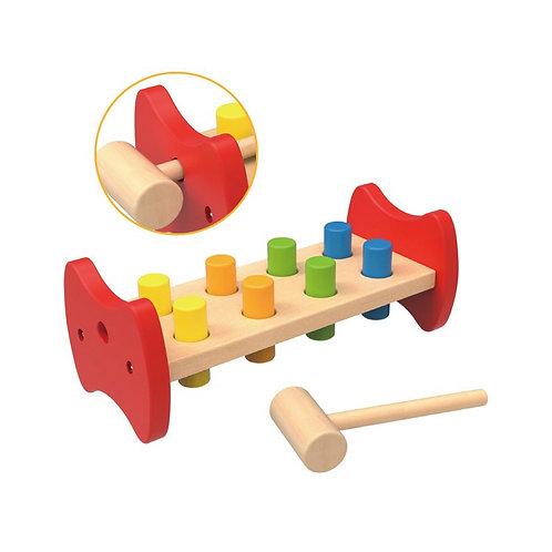 Medinis kalamas žaidimas su plaktuku Tooky Toy
