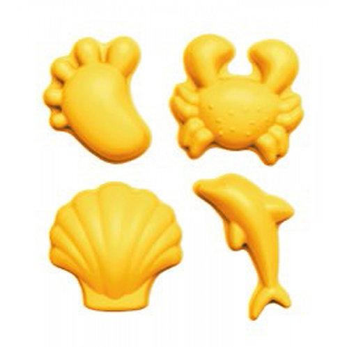 ,,Scrunch'' silikoninės formelės 4vnt., Pastelinė geltona