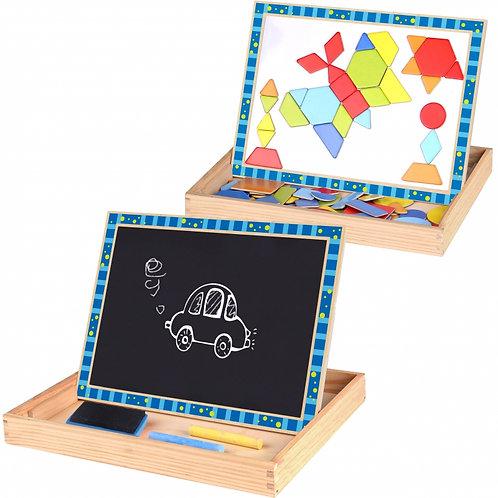 Dvipusė medinė magnetinė piešimo lenta formos