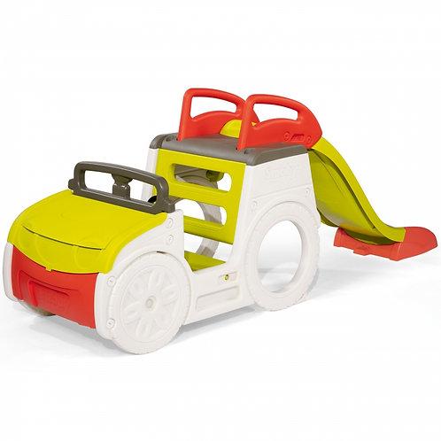 Smoby nuotykių automobilis su čiuožykla ir smėlio dėže