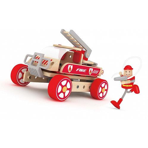 """Medinis gaisrininko automobilis vaikams """"Classic World"""""""