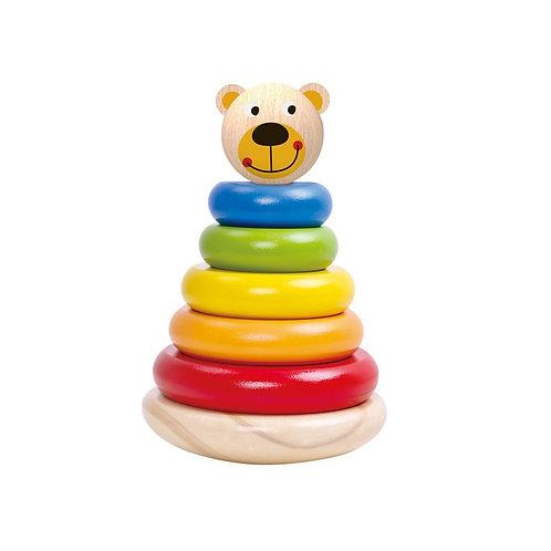Linguojanti piramidė meškiukas Tooky Toy
