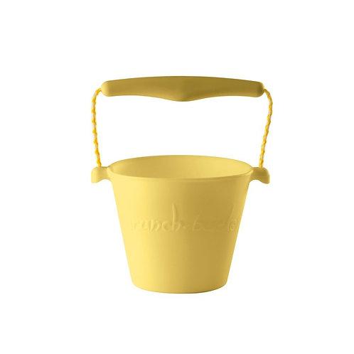 """Scrunch Bucket"" silikoninis kibirėlis, Pastelinė geltona"