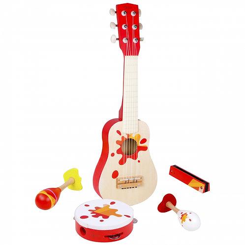 """Muzikinis rinkinys """"Tambūrinas Gitara + Classic World Priedai"""""""