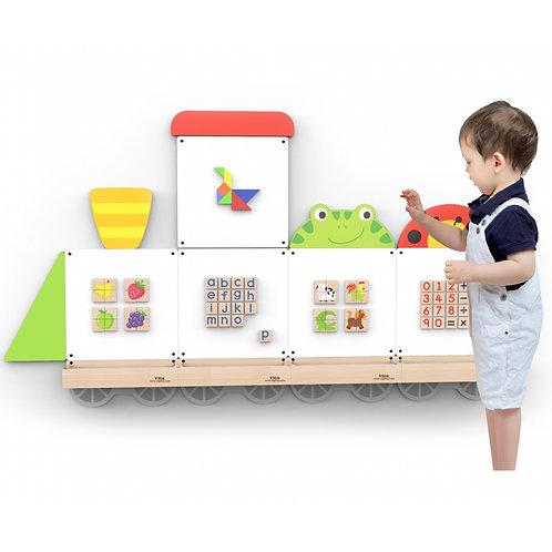 Lokomotyvo formos magnetinė edukacinė lenta