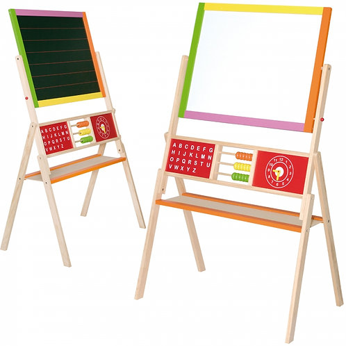 """Dvipusė mokomoji piešimo lenta su abaku """"Viga Toys"""""""