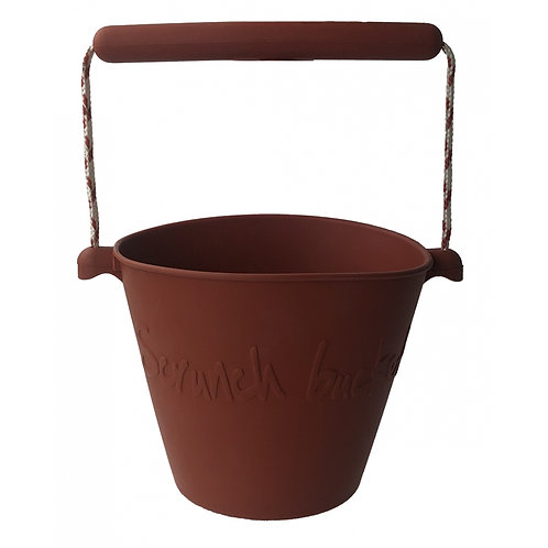 """Scrunch Bucket"" silikoninis kibirėlis, Rust"