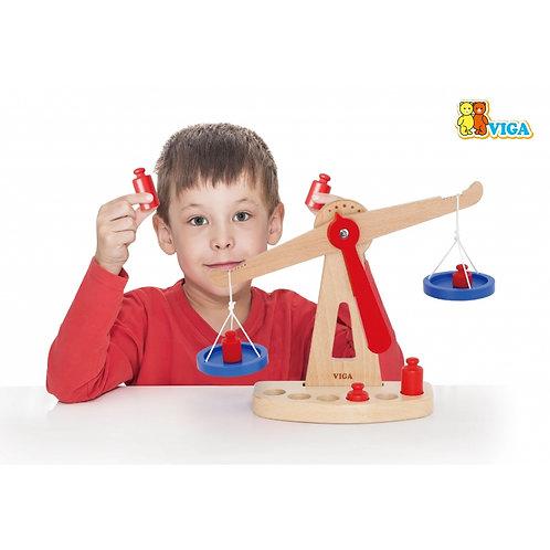 Žaislinės medinės svarstyklės Viga