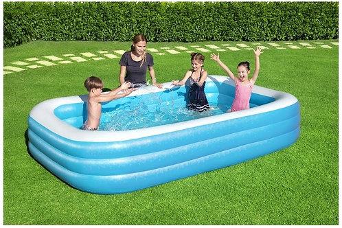 Pripučiamas baseinas Bestway Deluxe Family, 305x183x56 cm