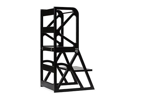 Montessori bokštelis MIMO-Tower juodas