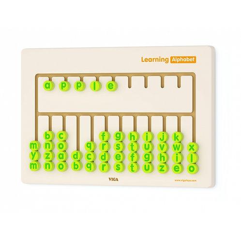 Abėcėlės mokymosi lenta Viga