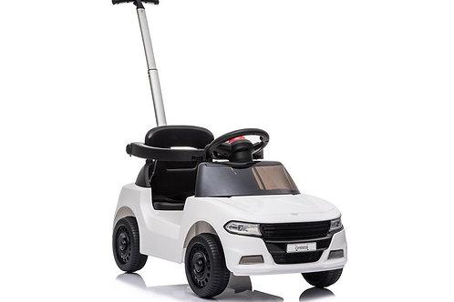 Minimalistiškas paspiriamas vaikiškas automobilis su stumduku