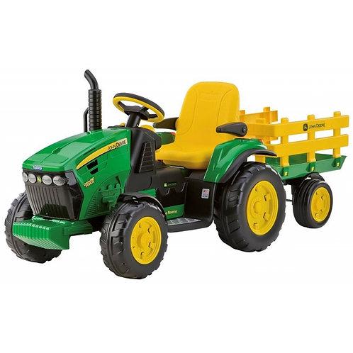 """""""Peg Perego John Deere"""" akumuliatorinis traktorius su priekaba"""