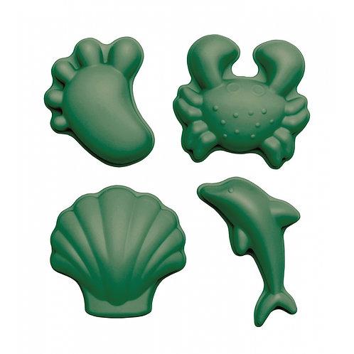,,Scrunch'' silikoninės formelės 4vnt., Tamsiai žalia