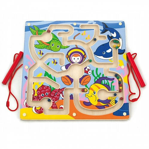 """Medinis magnetinis žaidimas – labirintas """"Nardymo takelis"""""""