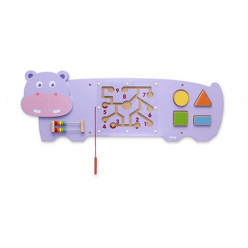 """Daugiafunkcinis medinis pakabinamas sieninis žaidimas """"Hipopotamas"""""""