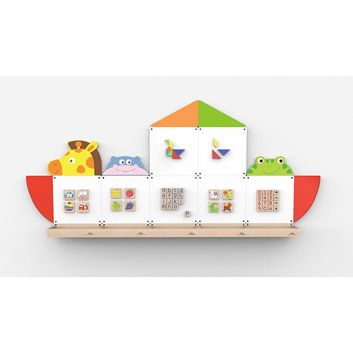 Laivo formos magnetinė edukacinė lenta