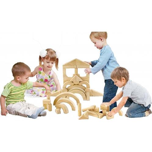 Medinės kaladėlės Viga Toys 48 elementai