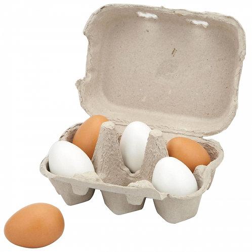 Mediniai kiaušiniai dėkle Viga