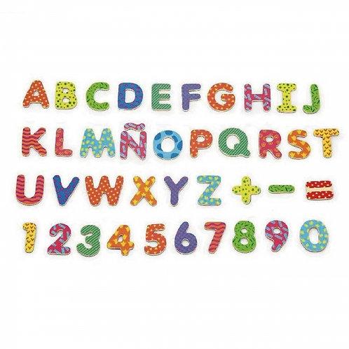 Medinis magnetinis rinkinys, abėcėlė ir skaičiai