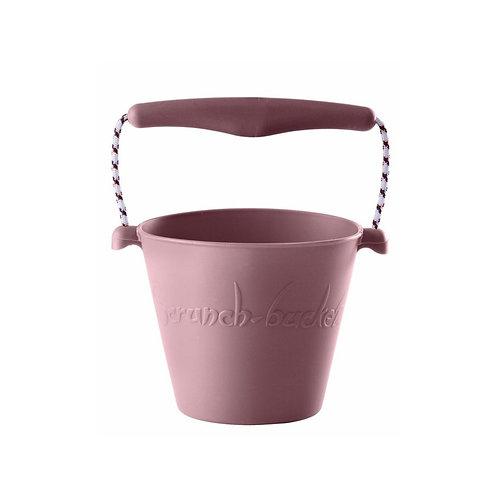 """""""Scrunch Bucket"""" silikoninis kibirėlis, Pelenų rožinė"""