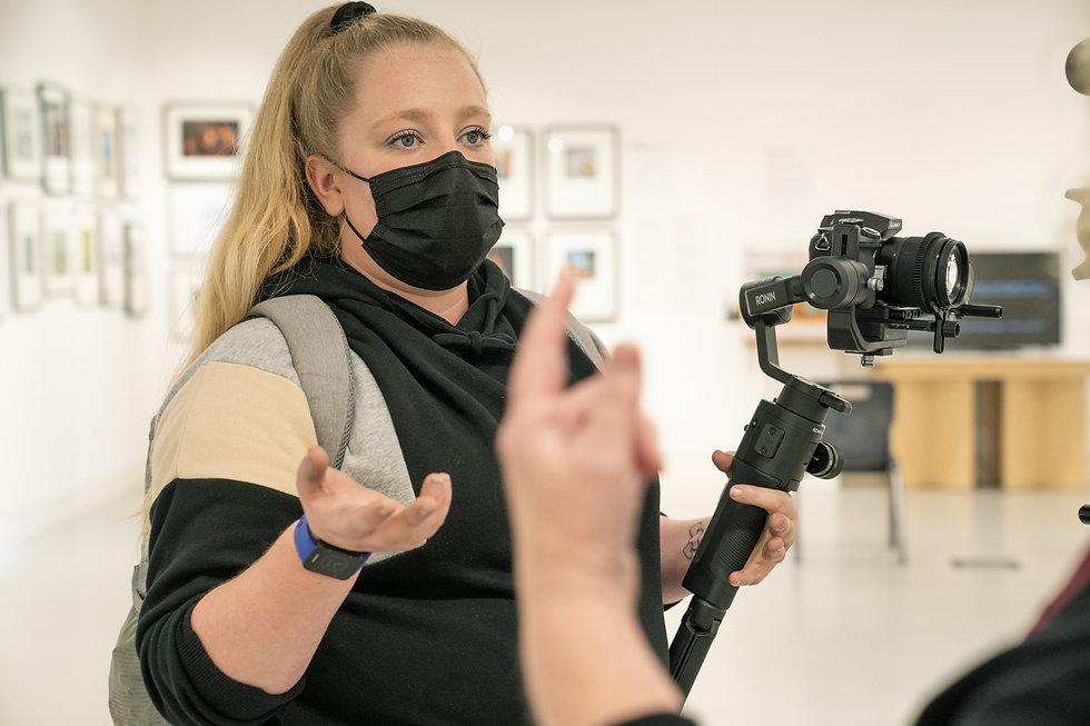 Videographer Alex Durham at the horse bridge arts centre.jpg