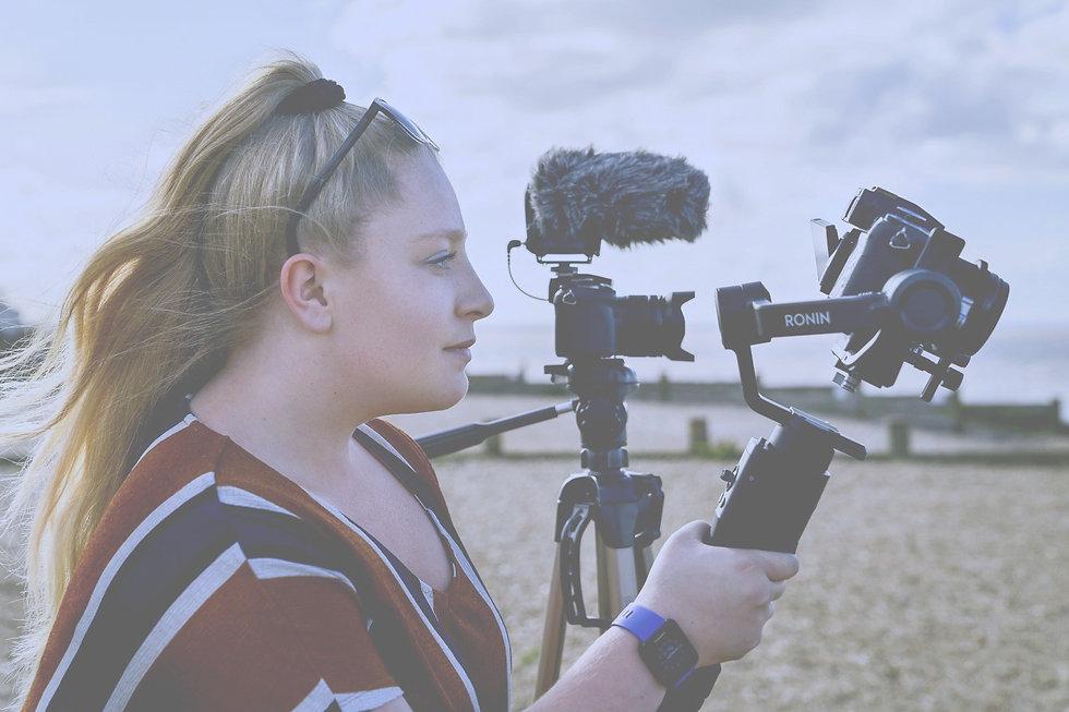 Kent Videographer shooting on whistable beach. Alex Durham Freelance.